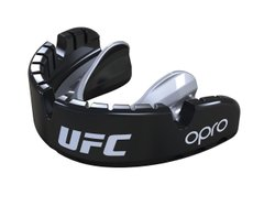 Капа OPRO Gold Braces UFC Hologram Black Metal/Silver (002262001)