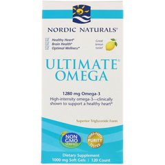 Рыбий жир Nordic Naturals Ultimate Omega Lemon 1.280 мг 120 Капсул (NOR02790)