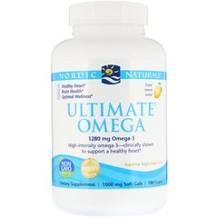 Рыбий жир Nordic Naturals Ultimate Omega Lemon 1.280 мг 180 капсул (NOR03790)