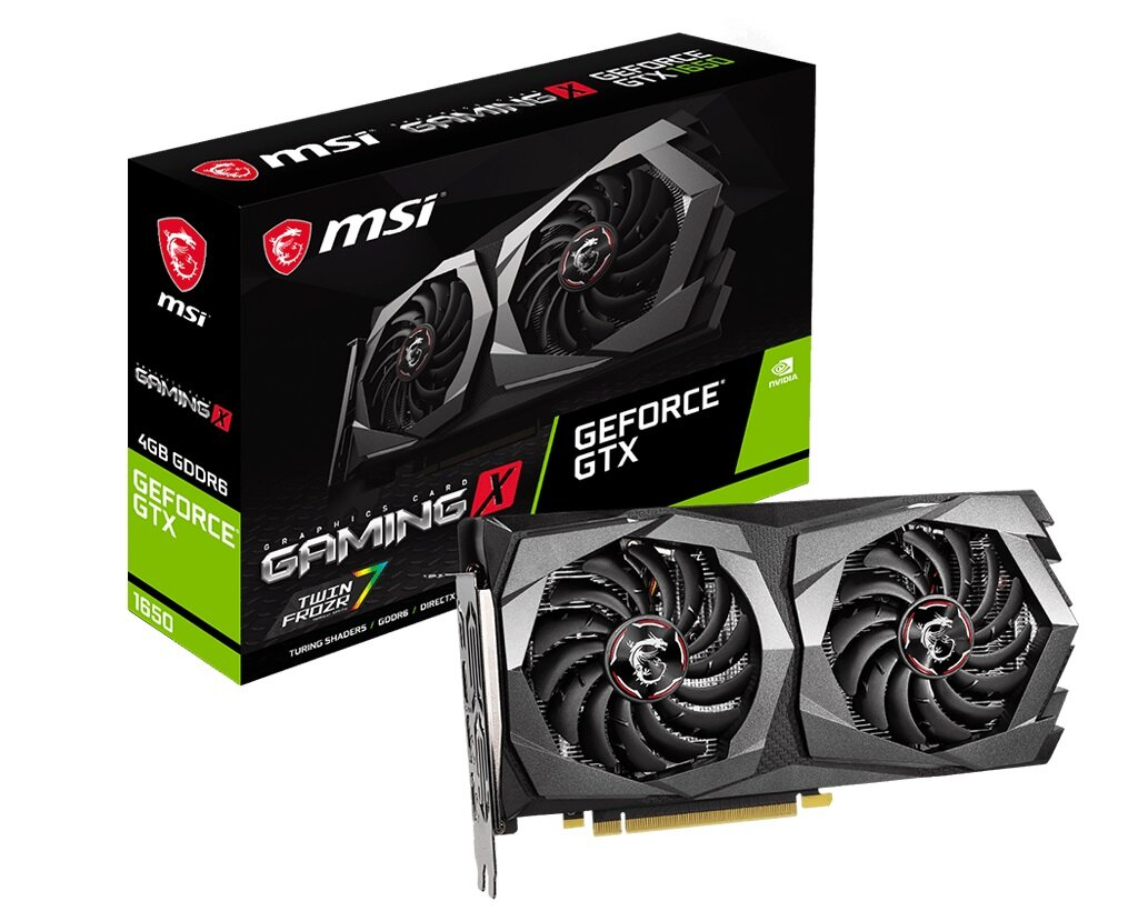 Видеокарта MSI GF GTX 1650 4GB GDDR6 Gaming X (GeForce GTX 1650 D6 GAMING X)