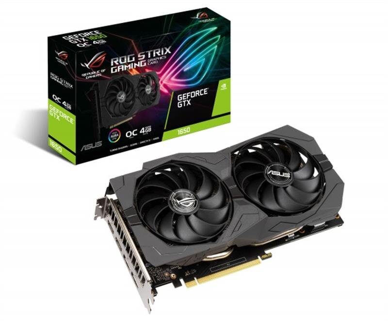 Видеокарта Asus GF GTX 1650 4GB GDDR6 ROG Strix Gaming OC (ROG-STRIX-GTX1650-O4GD6-GAMING)