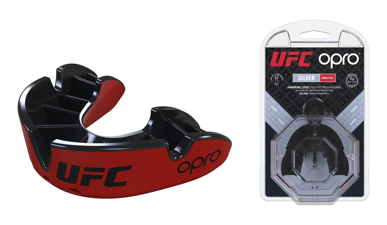 Капа OPRO Silver UFC Hologram Red/Black (002259001)