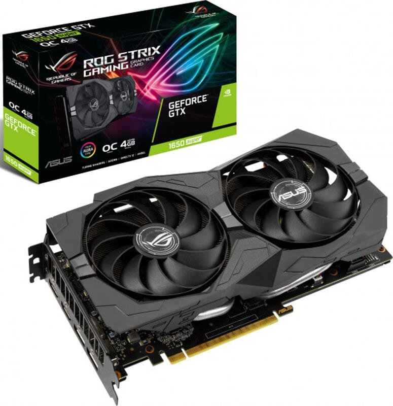 Видеокарта Asus GF GTX 1650 Super 4GB GDDR6 ROG Strix Gaming OC (ROG-STRIX-GTX1650S-O4G-GAMING)