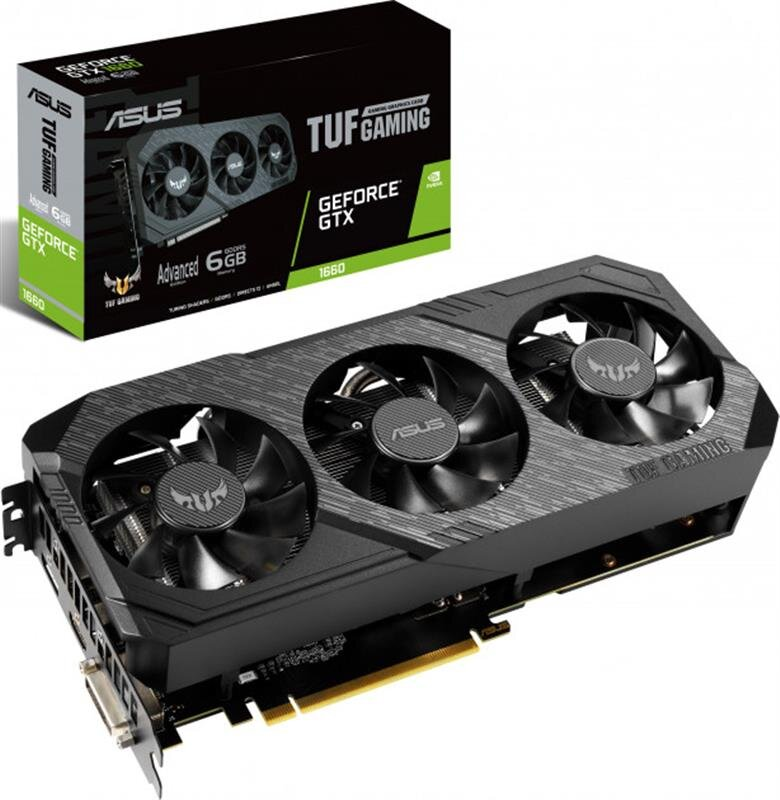 Видеокарта Asus GF GTX 1660 6GB GDDR5 TUF Gaming X3 Advanced (TUF3-GTX1660-A6G-GAMING)