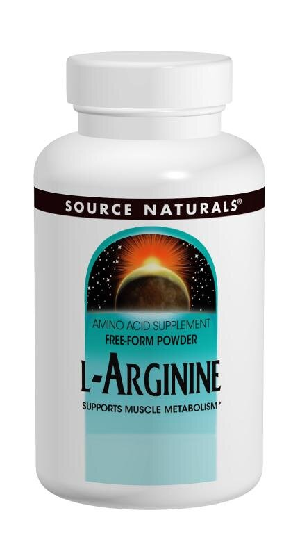 L-Аргинин Source Naturals 500 мг 100 капсул (SN1687)
