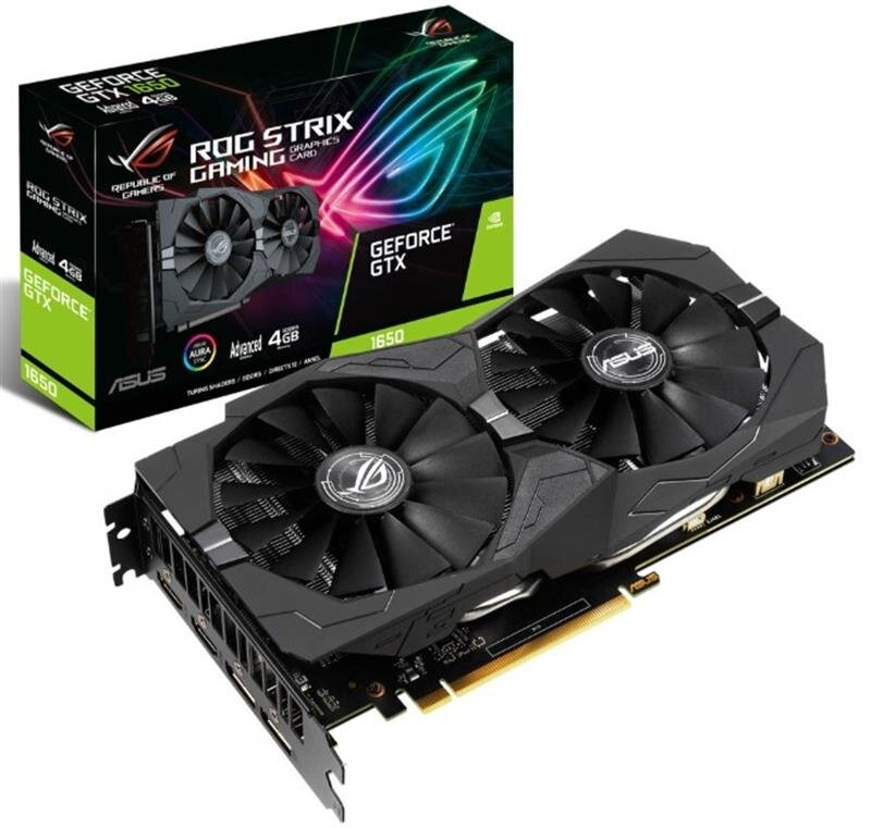 Видеокарта GF GTX 1650 4GB GDDR5 ROG Strix Gaming Advanced Edition Asus (ROG-STRIX-GTX1650-A4G-GAMING)